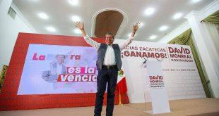 Triunfo irreversible y contundente de David Monreal a la gubernatura de Zacatecas